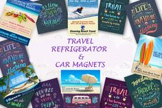 """To Travel Is To Live"" Travel magnets can bring back the memories of those special places you have visited for years. Invest now for bulk & avail special discounts! Refrigerator Magnets, Life Is An Adventure, Beach Trip, Time Travel, Kayaking, Memories, Places, Live, Top"