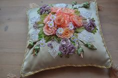 A beautiful cushion by Irina Kruts from Kiev in the Ukraine- this isn't beautiful it is exquisite.
