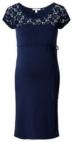 Ženska haljina kratkih rukava za trudnice ESPRIT MATERNITY - tamnoplava