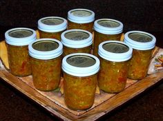 Chow-Chow (Sweet and Spicy Garden Relish) -- My grannie used to make this