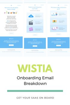 Wistia Onboarding Email Breakdown — Get Your SaaS On Board Competitor Analysis, Digital Marketing Strategy, Bar Chart, Infographic, Templates, Amazing, Free, Business, Hot