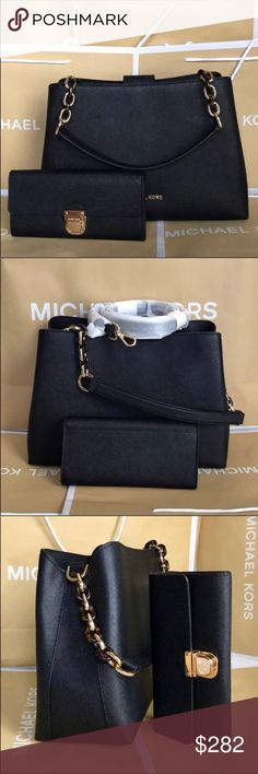 🌴Michael Kors Set🌴 100% Authentic Michael Kors Large Shoulder Or Crossbody Bag and Wallet, brand new with tag!😍😍😍 Michael Kors Bags Shoulder Bags
