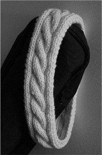 My Irish Hiking Headband knitting pattern. I'm thinking of making this a scarf instead.