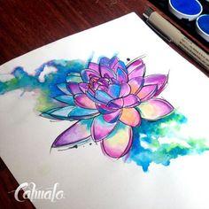 Watercolor Tattoos - Tattoo Shops Near Me Local Directory Aquarell Lotus Tattoo, Watercolor Lotus Tattoo, Aquarell Tattoos, Watercolor Art, Watercolor Mandala, Finger Tattoos, Body Art Tattoos, New Tattoos, Hand Tattoos