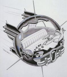 115 best retro future cars images on cars, autos Comics Illustration, World Of Tomorrow, Tomorrow Land, Futuristic Art, Futuristic Vehicles, Atomic Age, Science Fiction Art, Googie, Sci Fi Art