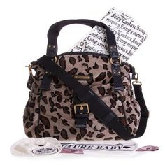 Juicy leopard baby bag