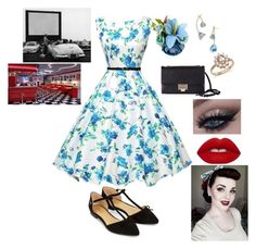 """""""pinup"""" by luna-the-outcast ❤ liked on Polyvore featuring Accessorize, Jimmy Choo, Tory Burch, Bloomingdale's and Lime Crime"""