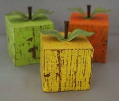 DIY Fruit Decor Check out all these great ideas to make DIY Fruit Decor for your home. - DIY Fruit Decor - Organize and Decorate Everything 2x4 Crafts, Wood Block Crafts, Scrap Wood Projects, Primitive Crafts, Wooden Crafts, Diy Projects To Try, Primitive Country, Scrap Wood Crafts, Wooden Diy