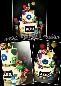 Inside out theme cake
