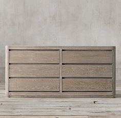 Martens 6-drawer Low Wide Dresser