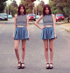 Chic Wish Skirt, Missguided Top, Primark Shoes, Asos Watch