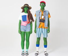 Alien Tourists costumes. #AmericanApparel #Halloween