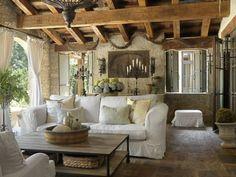 Landhausstil rustikal wohnzimmer  couchtisch massivholz rustikale einrichtungsideen fürs wohnzimmer ...