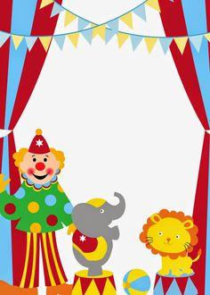 Help Festas e Personalizados: Convites Prontos - Circo
