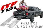 Information on the x-tra wide tri-fold ATV ramp.