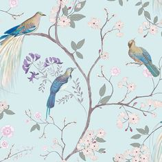 Dorma Duck Egg Maiya Wallpaper | Dunelm