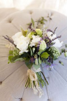 sweet lavender, this looks great for the bridesmaids, maybe a larger scale one with more white for MT and one with more purple for Maddie?