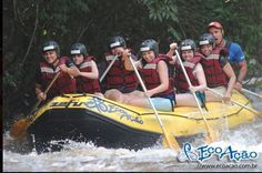 That's rafting in Brotas, a very nice city in the country side of São Paulo. Great day!