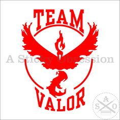 Added a collegiate spin on my #pokemongo #teamvalor decal. Pokemon Go Inspired Collegiate Team Valor Team Red College Custom Decal Sticker by AStickyObsession on Etsy