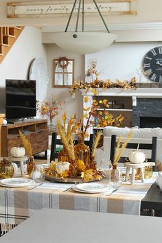 Harvest Moon Fall Tablescape Ideas - Clean and Scentsible
