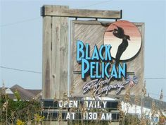 Black Pelican Restaurant in Kitty Hawk, NC - great place to eat if you want to enjoy the ocean view.