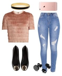 """Untitled #311"" by laurach81 on Polyvore featuring Raey, Tory Burch and Halcyon Days"