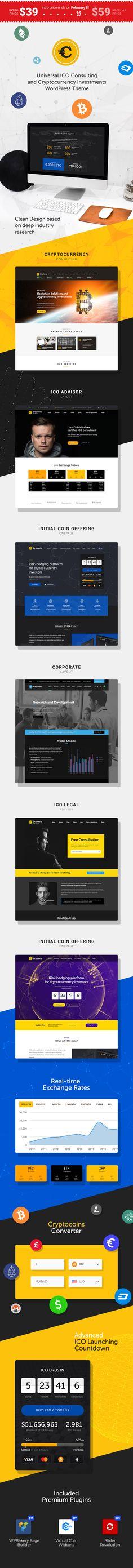 Crypterio – the Best ICO & Cryptocurrency WordPress Theme