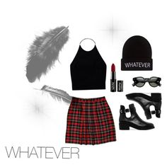 """""""WHATEVER"""" by linawijk ❤ liked on Polyvore featuring MANGO, Wet Seal, NYX and Wilfred"""