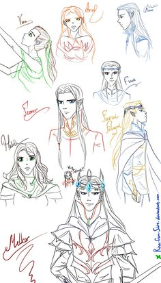Silmarillion sketches by Rina-from-Shire