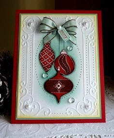 """Stampin up! Handmade """"Merry """" card NEW"""
