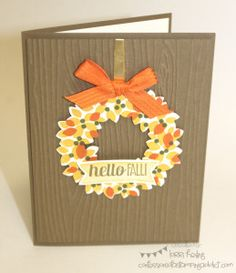 Fall Card :: Confessions of a Stamping Addict Wondrous Wreath Lorri Heiling
