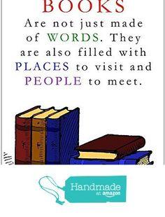Books Are Not Just Words Reading Classroom School Poster Educational Wall Decor from Paper Blast https://smile.amazon.com/dp/B01JSNQR06/ref=hnd_sw_r_pi_dp_P9rAzbV87BK9J #handmadeatamazon