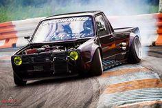 #Volkswagen #Caddy #Mk1 #MiniTruck #Slammed #Modified #WideBody #Drifter