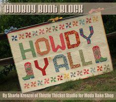 QAL – Cowboy Boot Block « Moda Bake Shop