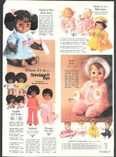 1971 ADVERTISEMENT Doll Shindana Malaika Li'l Souls Baby Janie June Buggy Angel