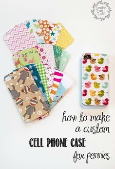 How to Make A Custom Cell Phone Case for Pennies - The DIY Bungalow - Handytasche Best Cell Phone Deals, Free Cell Phone, Cell Phone Covers, Make A Phone Case, Cool Phone Cases, Iphone Phone Cases, Cell Phone Companies, Usb, Computer