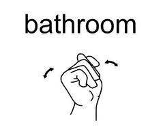 Image result for asl bathroom