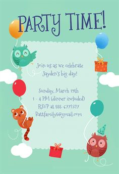 Kitty Cornered  Printable Birthday Invitation Template  Pet