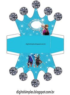 Agregamos a Annayelsa un nuevo modelo imprimible para fiesta de Frozen, podrás descargar, imprimir y armar cuantas cajas con formato de Corona de Elsa y Anna desees, las mismas son ideales para pre… Frozen Birthday Party, Frozen Party, Diy Birthday, Disney Princess Party, Frozen Princess, Eid Crafts, Paper Crafts, Frozen Crown, Anna Und Elsa