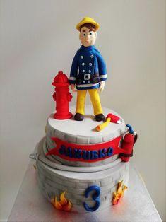Fireman Cake, Cakes, Desserts, Kids, Food, Tailgate Desserts, Fire Fighter Cake, Postres, Firefighter Cakes