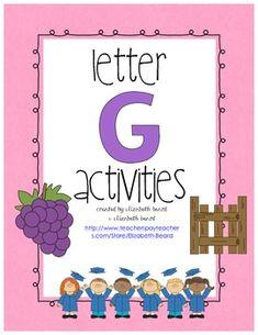 Letter G Activities- Preschool, Kindergarten and Intervention