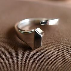 horseshoe nail diamond ring