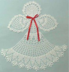 PA237 Angel Abriel Doily Crochet Pattern.  Create this gorgeous inspirational angel for a lovely gift or keepsake.  Displayed on a table, framed or appliquéd on linens, your beautiful doily is sure to be fanciful heirloom for generations to come.