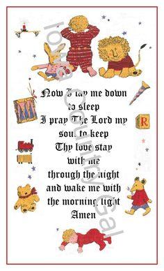 "NEW NOW LAY ME DOWN TO SLEEP PRAYER CHRISTIAN SIGN / WALL HANGING  11"" X 17"""