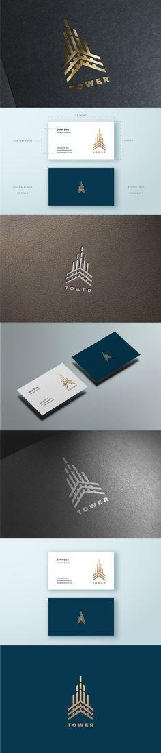 Tower Logo & Business Card Template