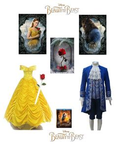 """""""B&B ❤💙"""" by yajhaira75 ❤ liked on Polyvore featuring Disney, BeautyandtheBeast and contestentry"""