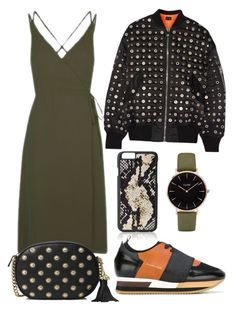 """Khaki dress"" by lachasseauxpapillons ❤ liked on Polyvore featuring Topshop, GiGi New York, MICHAEL Michael Kors, CLUSE, Alexander Wang and Philippe Model"