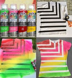 Make your own Summer Striped Tshirt with Tulip ColorShot!