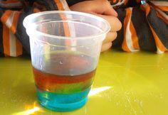 Densidades: arco iris de azúcar - experCiencia