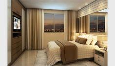 suites master decoradas - Painel TV